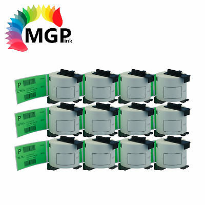 12 Compatible for Brother DK-11202 Shipping Green Label 62mmx100mm QL500 QL570