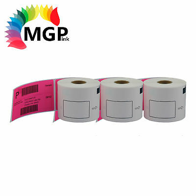 3 Compatible for Brother DK11202 Refill only Pink Label 62mmx100mm QL570 QL700