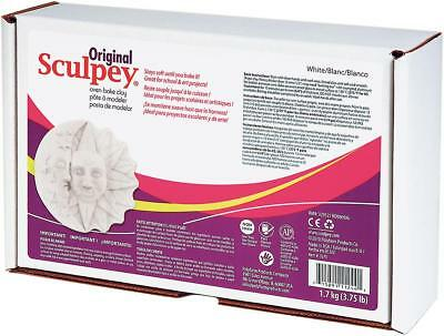 SCULPEY ORIGINAL - Oven Bake Polymer Clay - Large 1.7 kg (3.75 lbs) - WHITE