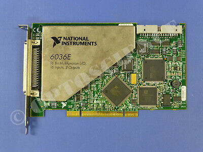 National Instruments PCI-6036E NI DAQ Card 16 bit Analog Input, Multifunction