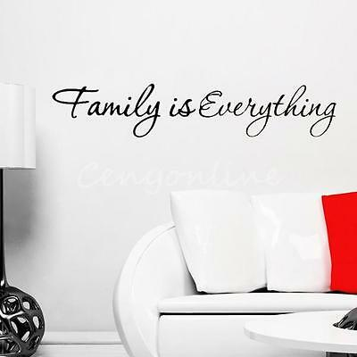 Home Decor New Family is Everything Letters Wall Decal Living Room Sticker Art