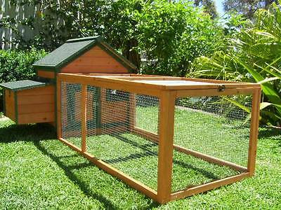 Chicken Coop Somerzby Brown Green Cottage Rabbit Hutch Guinea pig cage large run