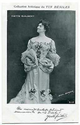 Carte Postale Photo Personnalite  Yvette Guilbert