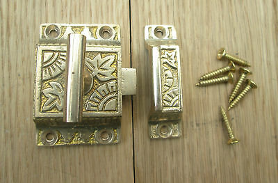 Solid Brass Traditional Classic Cupboard Cabinet Door Catch Thumbturn Latch Lock
