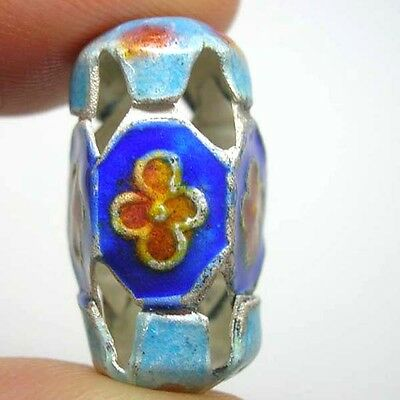 Vintage Old Exquisite Chinese Enamel Cloisonne Bead 1970s #Z10