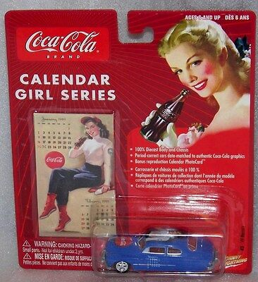 CocaCola Johnny Lightning Calendar Girl Series #3 '49 Mercury 1:64 scale