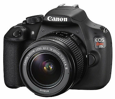 Canon EOS Rebel T5 18.0MP Camera with EF-S 18-55mm DC III Kit