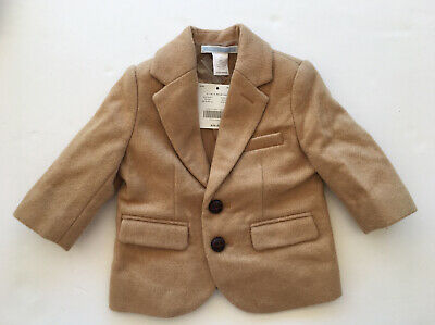 NWT Janie & Jack 3-6 Months Holiday Traditions Camel Wool Blazer Jacket
