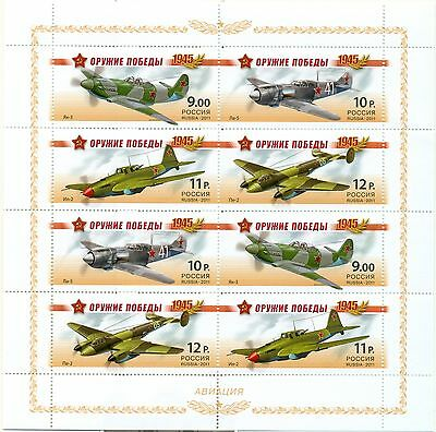 RUSSIA 2011 Minisheet Weapon of the Victory. Front aviation MNH