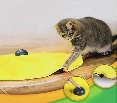 Brand New Cat's Meow Undercover Yellow Skirt Motorised Moving Wand Mouse Toy