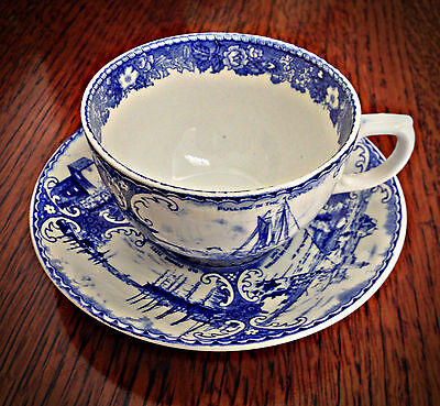 Rare Jonroth England Staffordshire Cup & Saucer - Imported For Sandlers Jewelry