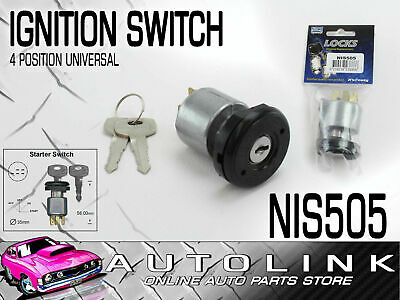 IGNITION STARTER SWITCH UNIVERSAL 4 POSITION MOUNTING HOLE DIA: 19.7mm NIS505