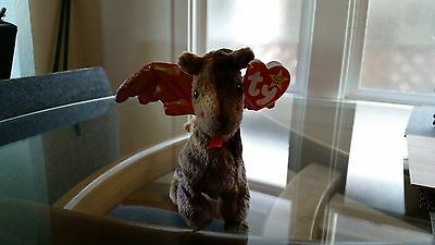 'Scorch' the Dragon - Ty Beanie Baby - MINT - RETIRED