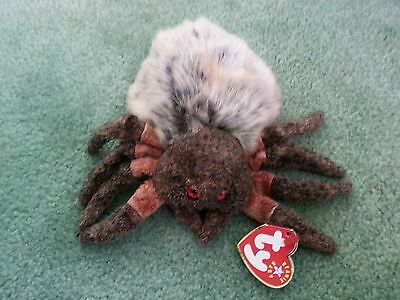 Authentic Ty Beanie Baby Original HAIRY The Spider RETIRED Beanbag Plush Toy