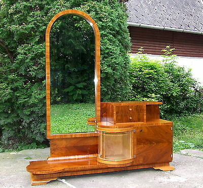 Art Deco Dressing Table. FREE Delivery UK. Full Length Mirror. Genuine 1920-30s.