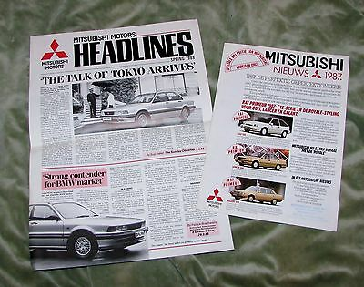 1987/88 Mitsubishi Newsletters (English & Dutch)