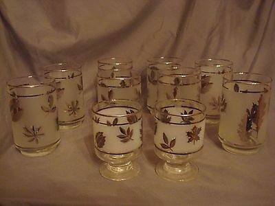 LIBBEY/ROCK SHARPE OLD FASHIONED SILVER LEAF TALL Lot of (10) Collins ? Vintage