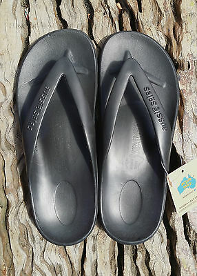 Black STARFISH Thongs from Aussie Soles arch support  FREE POSTAGE OVER $100