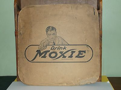 Vintage Moxie Soda Double Sided Thick Card Board Advertising Sign