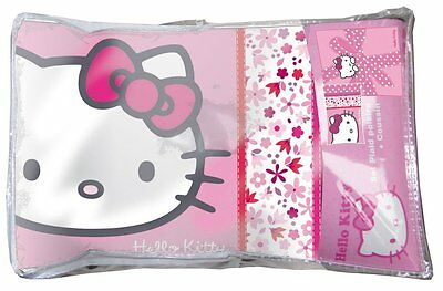 Fleecedecke Decke Plaid + Kissen Hello Kitty Flora Plumetis  130 x 160  cm