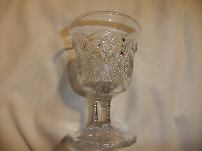 Horse shoes and Fan Pattern cordial pressed glass