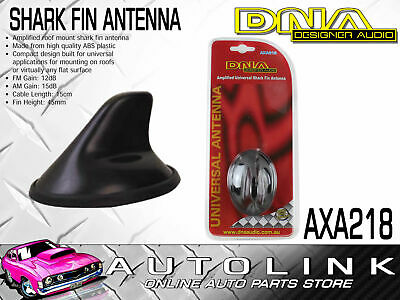 Dna Amplified Roof Shark Fin Antenna - Universal , Mounts To Flat Surfaces
