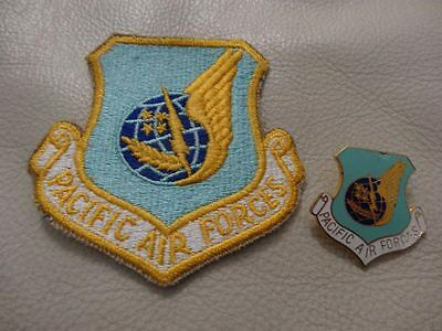 PACIFIC AIR FORCES PATCH & PACIFIC AIR FORCES   PIN.. very collectible!!