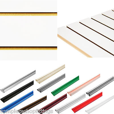 New White Slatwall Panel Board Slat Slot Wall Panel Shopfitting Display Board