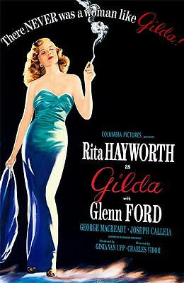 Gilda Vintage Movie Poster Lithograph Rita Hayworth Hand Pulled Limited Edition