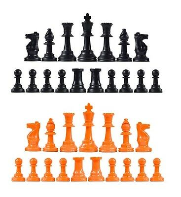 Staunton Single Weight Chess Pieces Full Set of 34 Red /& Royal Blue 4 Queens