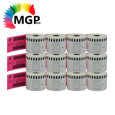 12 Refill only Compatible for Brother DK-22205 Continuous Pink Roll 62mmx30.48m