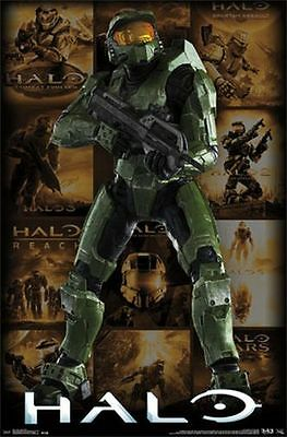 HALO - KEY ART GRID - VIDEO GAME POSTER - 22x34 NEW 13271