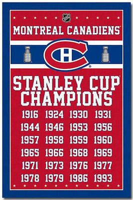 MONTREAL CANADIENS - STANLEY CUP CHAMPIONS POSTER - 22x34 NHL HOCKEY 6703