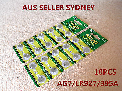 10pcs AG7/LR927/395​A Button Cell Coin JAPAN STD Alkaline Battery 1.55V  Watches