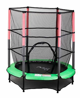 "FoxHunter 55"" 4.5FT Junior Trampoline With Enclosure Safety Net Kids Child Green"