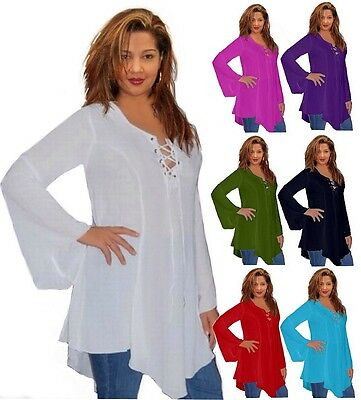 @B841 BLOUSE SHIRT TOP LAGENLOOK RAYON BOHO HIPPIE LADIES FASHION MADE TO ORDER