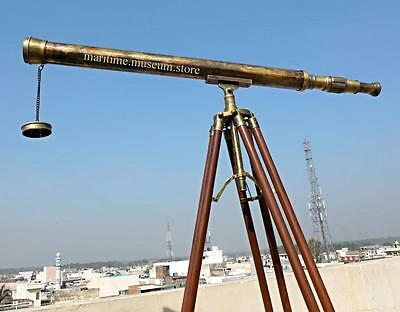 40'' superb power coated optics and clarity Brass Stand Telescope.