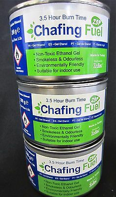 3 X Ethanol Chafing Gel Fuel Catering 3.5 Hr Burning BBQ Buffet Camping Parties