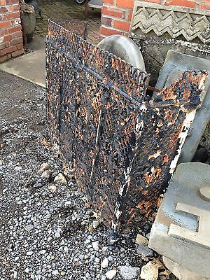 One Matched Pair Very Ornate Cast-Iron Radiator Covers Antique