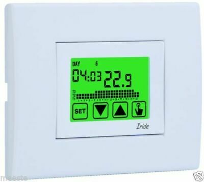 Ve457800 Iride Cronotermostato Da Incasso Touch Screen 230V Bianco Vemer