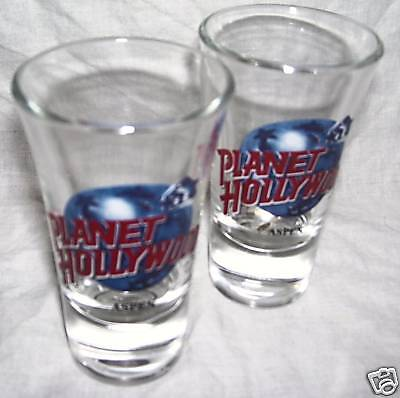 PLANET HOLLYWOOD ASPEN--2 SHOT GLASSES--L@@K