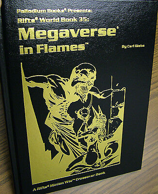 Rifts: Megaverse in Flames - Gold Hardcover -- Printer Proof  -- 9 sig.s