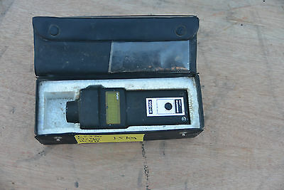 SHIMPO DT-205 HAND DIGITAL  optical TACHOMETER IN CASE