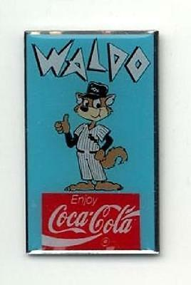 Chicago White Sox Baseball Farm Team Fox Mascot Waldo Coca-Cola Coke Lapel Pin
