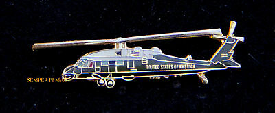 VH60 Seahawk HMX-1 US MARINES HAT PIN MARINE ONE PRESIDENT OBAMA HELICOPTER USA