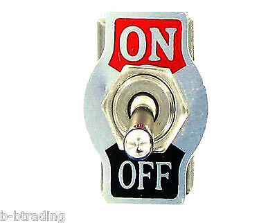 Heavy Duty  20A 125V 15A 250V SPST 2 Terminal ON/OFF Toggle Switch with Plate
