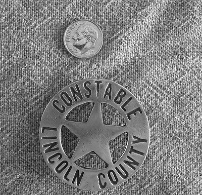 LINCOLN COUNTY CONSTABLE BADGE #2 (BADGES OLD WEST)