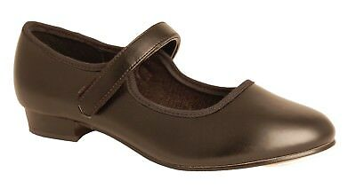 Black Low Heel PVCs Tap Shoes with Velcro Fastening (LHPVB)