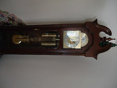 RIDGEWAY GRANDFATHER CLOCK---WEIGHT DRIVEN WITH 4 WAY CHIME SETTING--