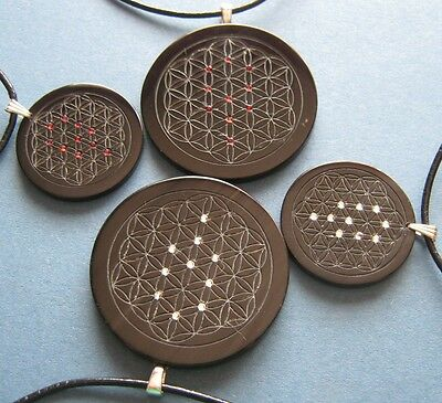 Sephirot with flower of life am Leather strap with Lock